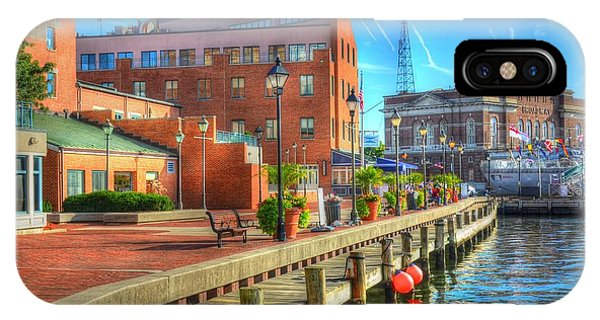 iPhone Case - Fells Point Dock by Debbi Granruth