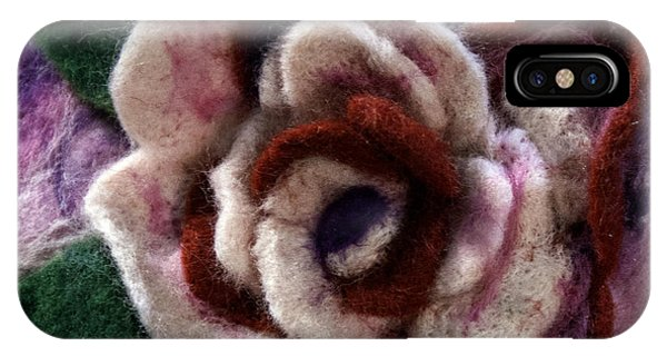 Felted Rose IPhone Case