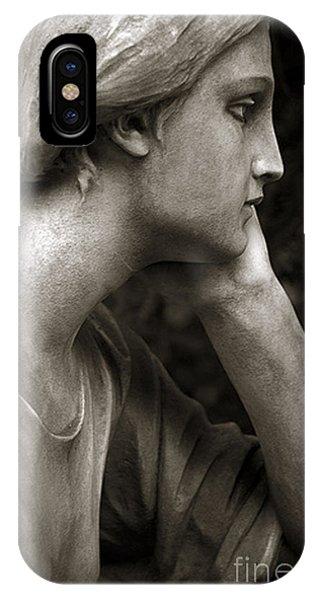 Female Angel Face Closeup - Female Angelic Face Portrait IPhone Case