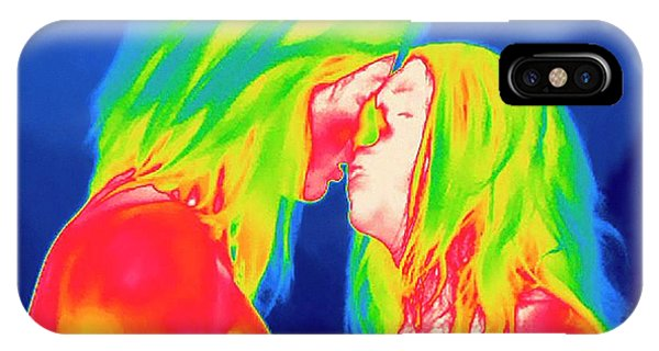 Infrared Radiation iPhone Case - Female Couple Kissing by Thierry Berrod, Mona Lisa Production