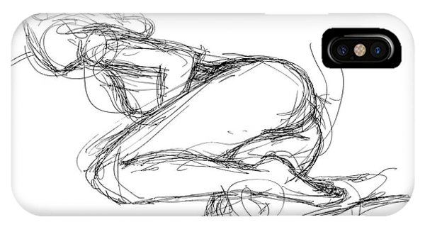 IPhone Case featuring the drawing Female-erotic-sketches-8 by Gordon Punt