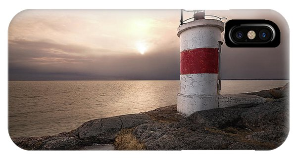 Lighthouse iPhone Case - Fema??re by Christian Lindsten