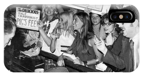 Equal Rights iPhone Case - Feminists Protest  Brown's Bar by Underwood Archives