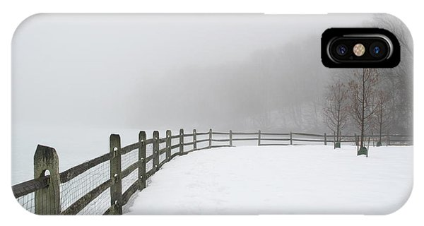 Fence In Fog IPhone Case