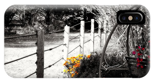 Fence Near The Garden IPhone Case