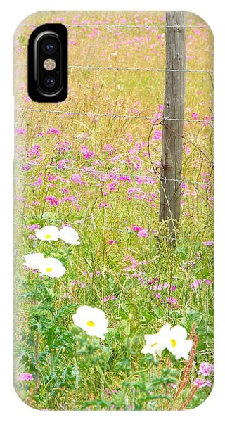 Fence Post And Flowers IPhone Case