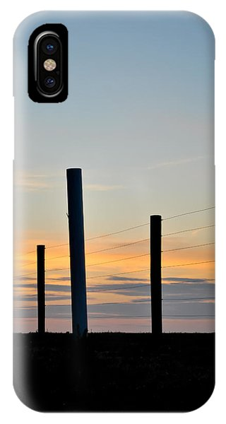 Fence Posts At Sunset IPhone Case