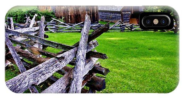 Fences At Burnside Plantation Bethlehem Pa IPhone Case