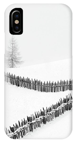 White Mountains iPhone Case - Fences: Playing With Lines by Vito Miribung
