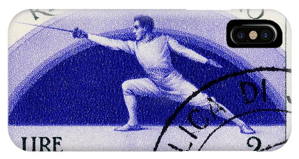 Fencing On San Marino Stamp IPhone Case