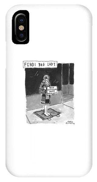'fendi Bag Lady' IPhone Case