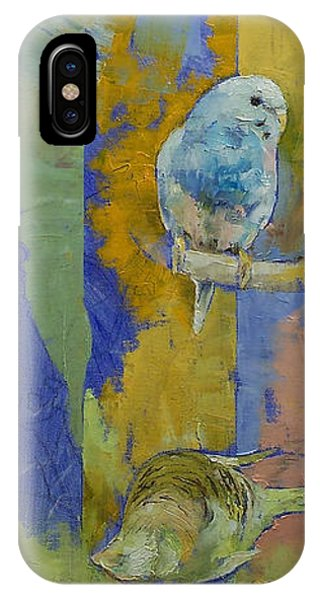 Parakeet iPhone Case - Feng Shui Parakeets by Michael Creese