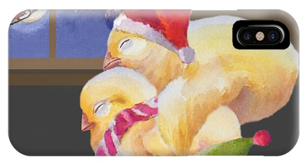 Baby Chicks Night Before Christmas IPhone Case