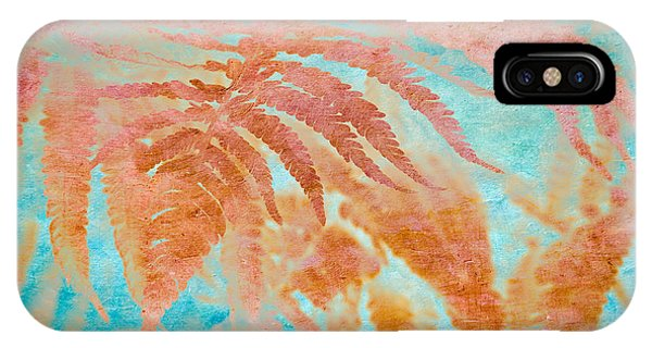 IPhone Case featuring the mixed media Fern Impressions Art by Priya Ghose