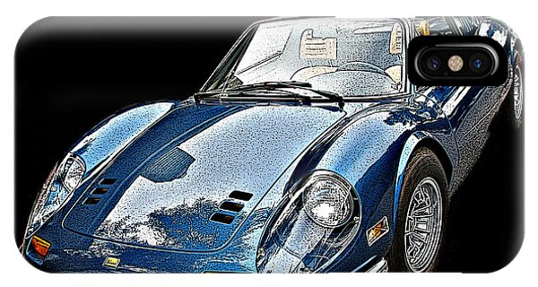 Ferrari 246 Gt Dino 3/4 Front View IPhone Case