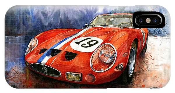 Watercolour iPhone Case - Ferrari 250 Gto 1963 by Yuriy Shevchuk