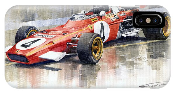 1971 Ferrari 312 B2 1971 Monaco Gp F1 Jacky Ickx IPhone Case