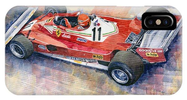 Automotive iPhone Case - Ferrari 312 T2 Niki Lauda 1977 Monaco Gp by Yuriy Shevchuk