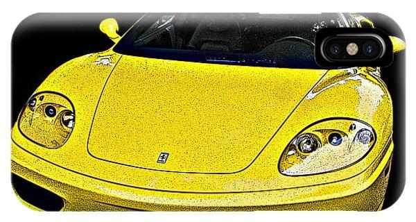 Ferrari 360 Modena In Yellow IPhone Case