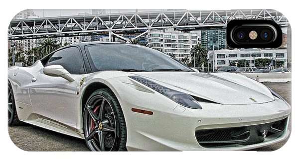 Ferrari 458 Italia In White IPhone Case