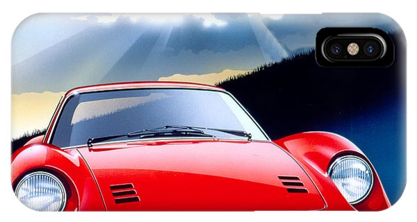 Light Speed iPhone Case - Ferrari Dino by MGL Meiklejohn Graphics Licensing