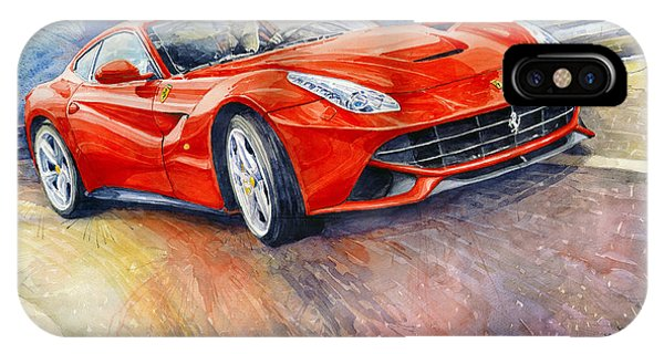 Paper iPhone Case - 2014 Ferrari F12 Berlinetta  by Yuriy Shevchuk