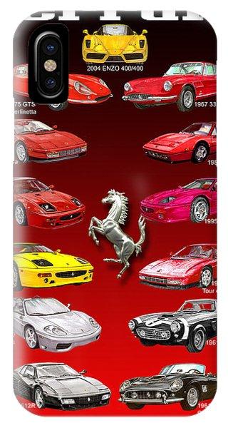 Ferrari Sports Car Poster  IPhone Case