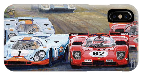 Car iPhone X Case - Ferrari Vs Porsche 1970 Watkins Glen 6 Hours by Yuriy Shevchuk