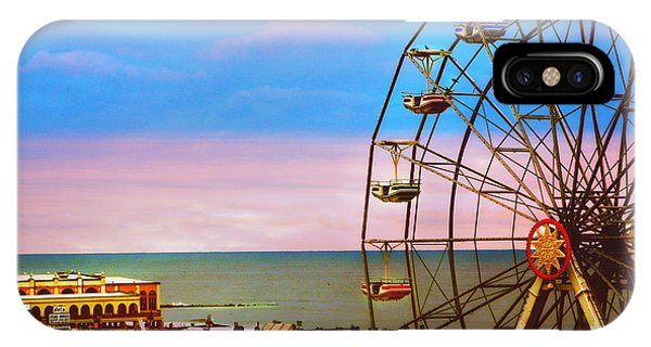 Ocean City New Jersey Ferris Wheel And Music Pier IPhone Case