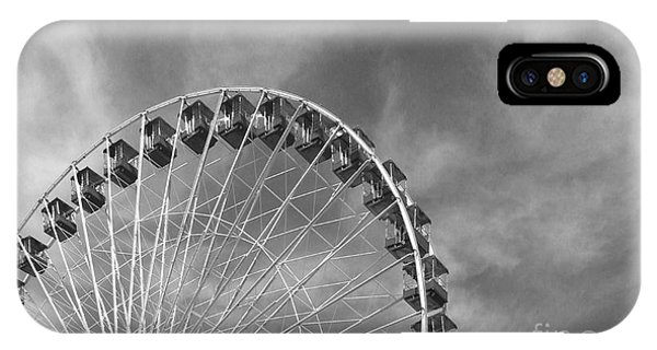 Ferris Wheel Black And White IPhone Case