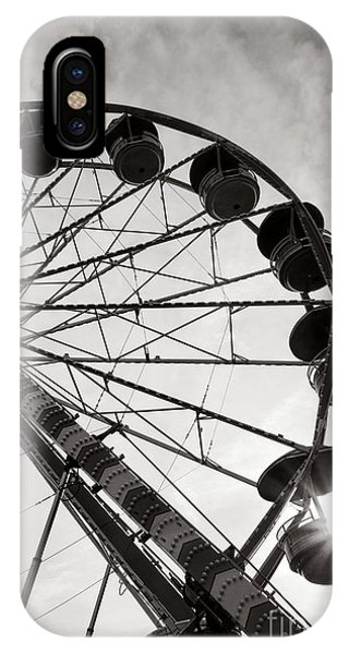 Funfair iPhone Case - Ferris Wheeler Day Off by Olivier Le Queinec
