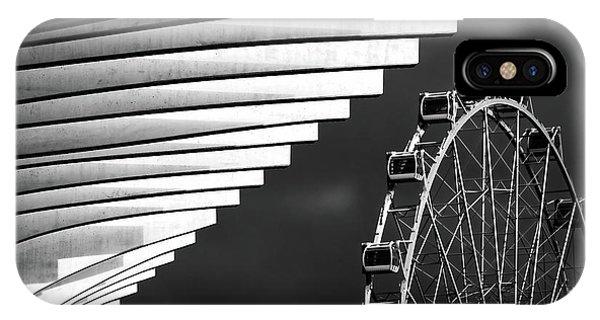 Funfair iPhone Case - Ferris Wheel by Hans-wolfgang Hawerkamp