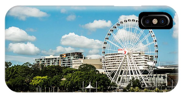 Ferris Wheel On The Brisbane River IPhone Case