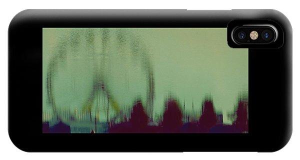 Ferris Wheel Reflection IPhone Case