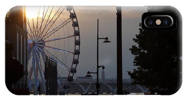 Ferris Wheel Sunset 1 IPhone Case