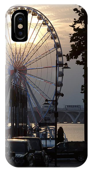 Ferris Wheel Sunset 2 IPhone Case