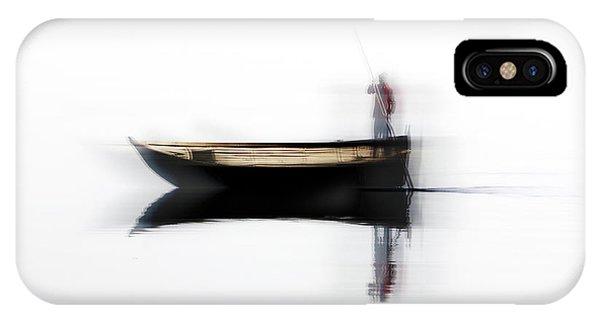 Boat iPhone Case - Ferryman by Hans-wolfgang Hawerkamp