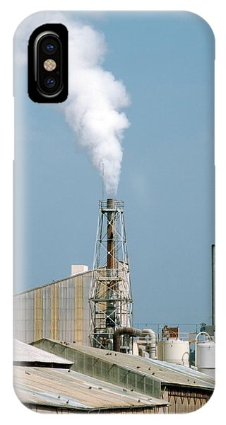 Fertiliser Factory Smokestack Phone Case by Alex Bartel