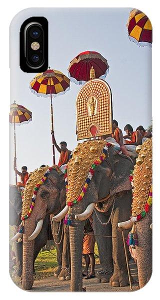 Kerala Festival Elephants IPhone Case