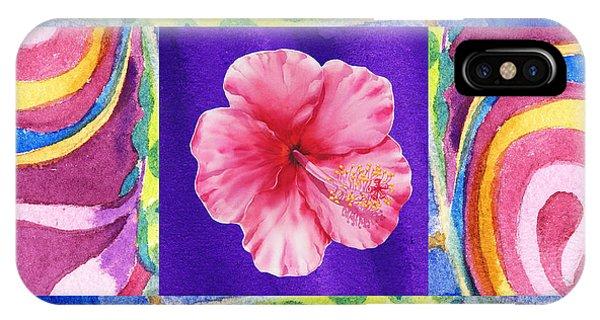 Hibiscus Flower iPhone Case - Festive Floral Hibiscus  by Irina Sztukowski