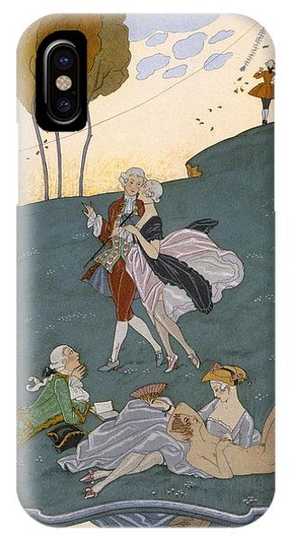 Centaur iPhone Case - Fetes Galantes by Georges Barbier