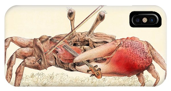 Violin iPhone Case - Fiddler Crab by Eric Fan