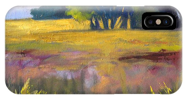 Botany iPhone Case - Field Grass Landscape Painting by Nancy Merkle