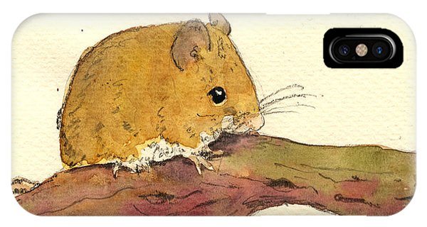 Mouse iPhone Case - Field Mouse by Juan  Bosco