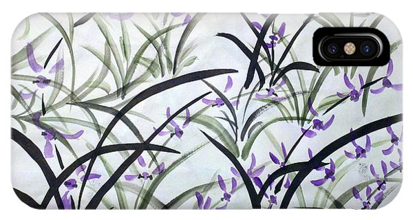 Field Of Orchids IPhone Case