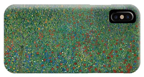 19th Century iPhone Case - Field Of Poppies by Gustav Klimt