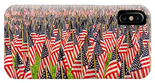 Field Of Us Flags IPhone Case