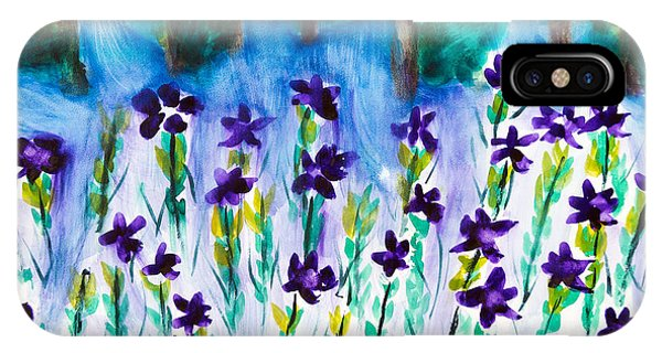 Field Of Violets IPhone Case