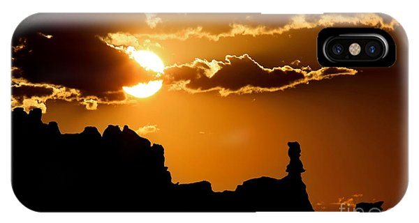 Fiery Desert Sky IPhone Case