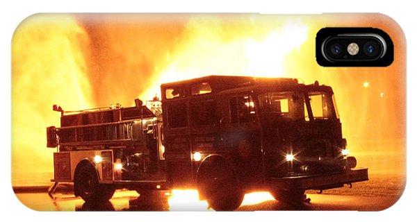 Fiery Fire Truck IPhone Case